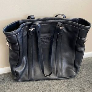 COACH tote bag leather